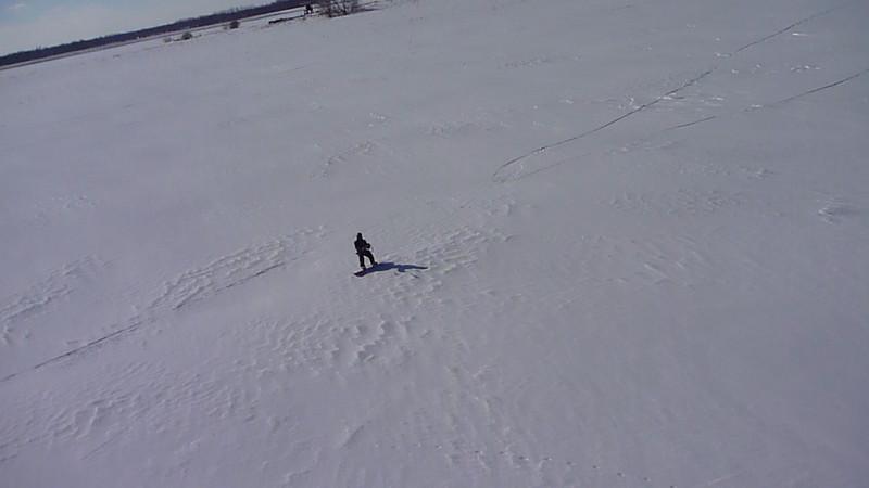 (Video) 2011-Feb: Snowkiting on Feb 10