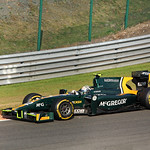 Giedo Van Der Garde (12) in the Caterham powers his way to 5th position at Spa (Rivage) GP2 Race 1, Saturday 1st September 2012.