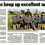 Pontefract & Castleford Express, 14th August 2014.<br /> <br /> Article about the gala day at Featherstone Lions Rugby League Club