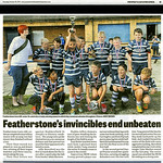 Pontefract & Castleford Express, 30th October 2014.<br /> <br /> Article about Featherstone Lions' successful Rugby League season.