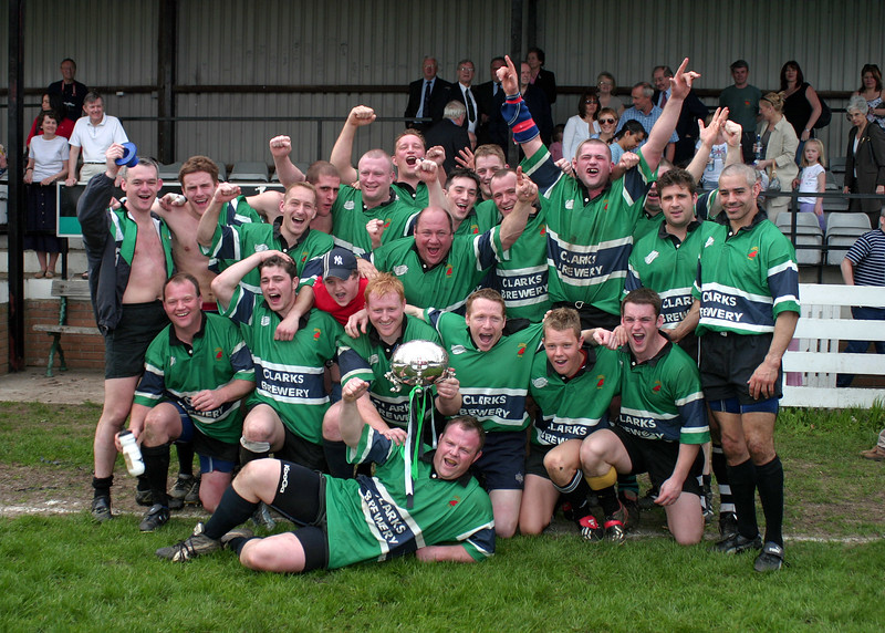 The victorious Stanley Rodillians who beat Whitby by 23-4 pts in the final of the Yorkshire Silver Trophy on 25th April 2004.