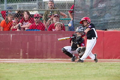 Allison powers home the winning point against Haleyville in the bottom of the sixth to finish off a great comeback win.
