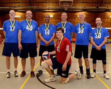 2014 Men's Senior Game Champions - Tom Miebeck, Barry Bablin, Tony Bonilla, Bob Baul, Conrad Gerstenberger, Patrick Dwyer, Ed Razz