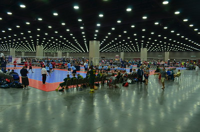 Endless volleyball courts - 36 in this room alone.