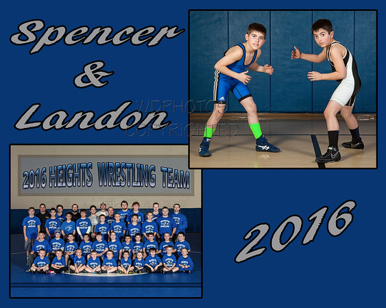 Memory Mate Wrestling 2016 Spencer & Landon
