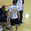 Coach Schall and senior opposite Dominic LaBella