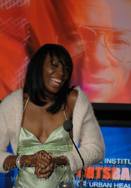 Venus Williams is honored at Sportsball 2005 held at Chelsea Pier for the Arthur Ashe Institute for Urban Health