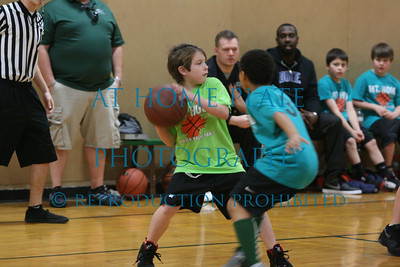 Basketball:Boys Grade School lime green shirts vs blue shirts