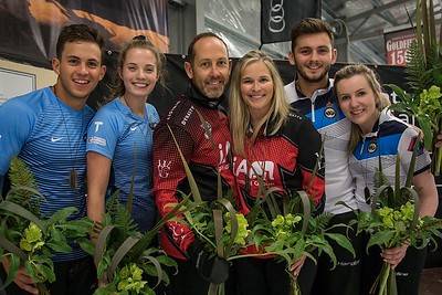New Zealand Winter Games 2018 Silver Medallists. Official photo with thanks.    Canada the winners and United States the Bronze Medallists.