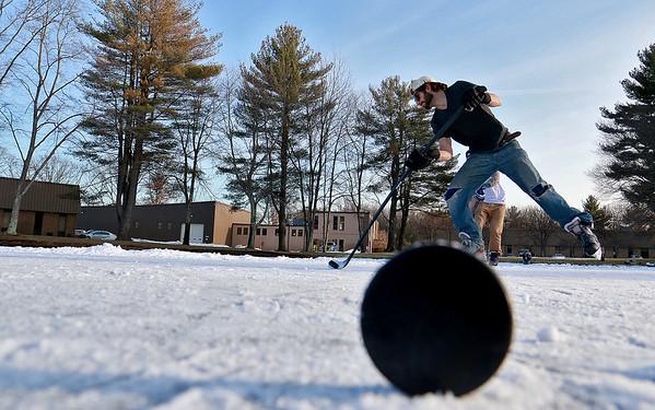 Pond Hockey in Billerica
