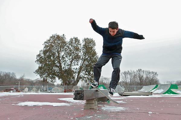 Skateboarding in Lowell