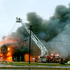 The Anderson Fire Department battled to put out a large fire at Captain D's Seafood restaurant, 2701 Broadway Monday morning.