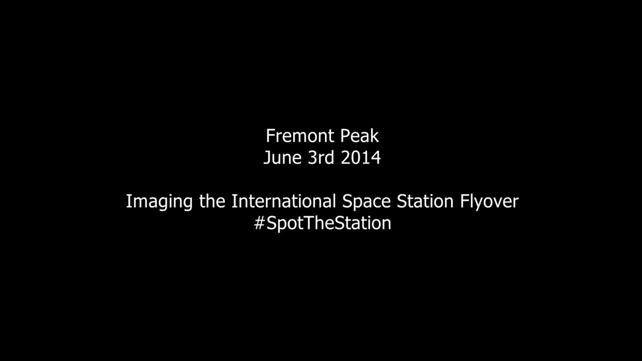 ISS Flyover Time Lapse