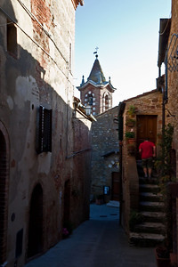 Coming home in the village of Trequanda.