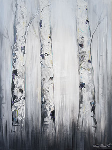 "Lois Arrechea ""Birch Trees"" 36 X 48 $1,320"