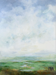 "Lois Arrechea  ""Marsh"" 36 x 48 $1,895"