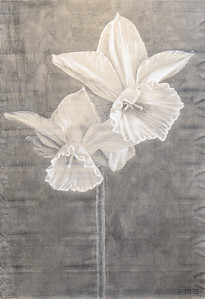 "Emily Morgan Brown ""Daffodil""  60 x41  $2,100"