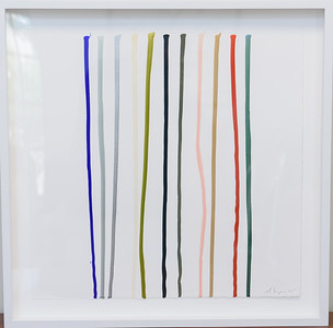 "Scott Ingram ""Nail Polish on Paper"" 24 x 24 $1,600"