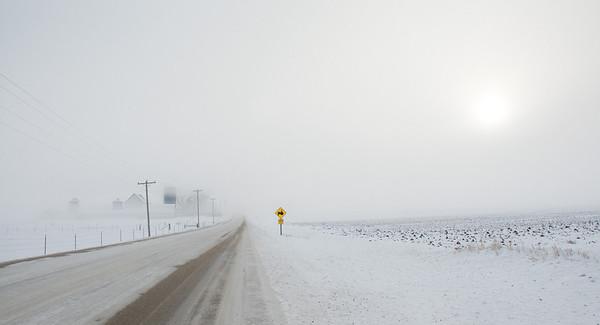 Yellow - tractor crossing ahead