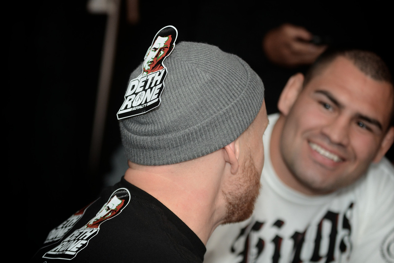 UFC's Cain Velasquez has some fun @ UFC Fan Expo in Toronto