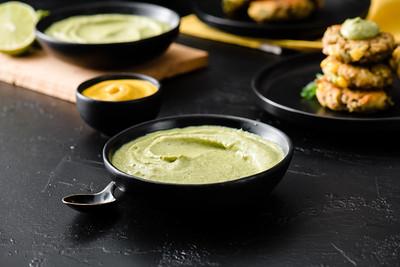 Creamy Tofu, Mustard & Avocado Dip