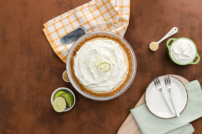 Tangy Key Lime & Mustard Pie