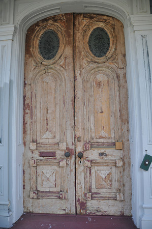 Study of the Door<br /> Everitt House<br /> 200 High St<br /> Hackettstown, NJ<br /> Beverly Hutzel<br /> Home built mid-1800s