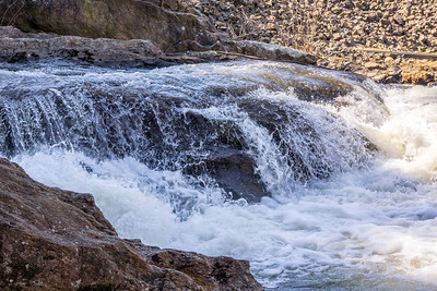 Spillway at Black Rock Lake. Black Rock State Park, Watertown, CT