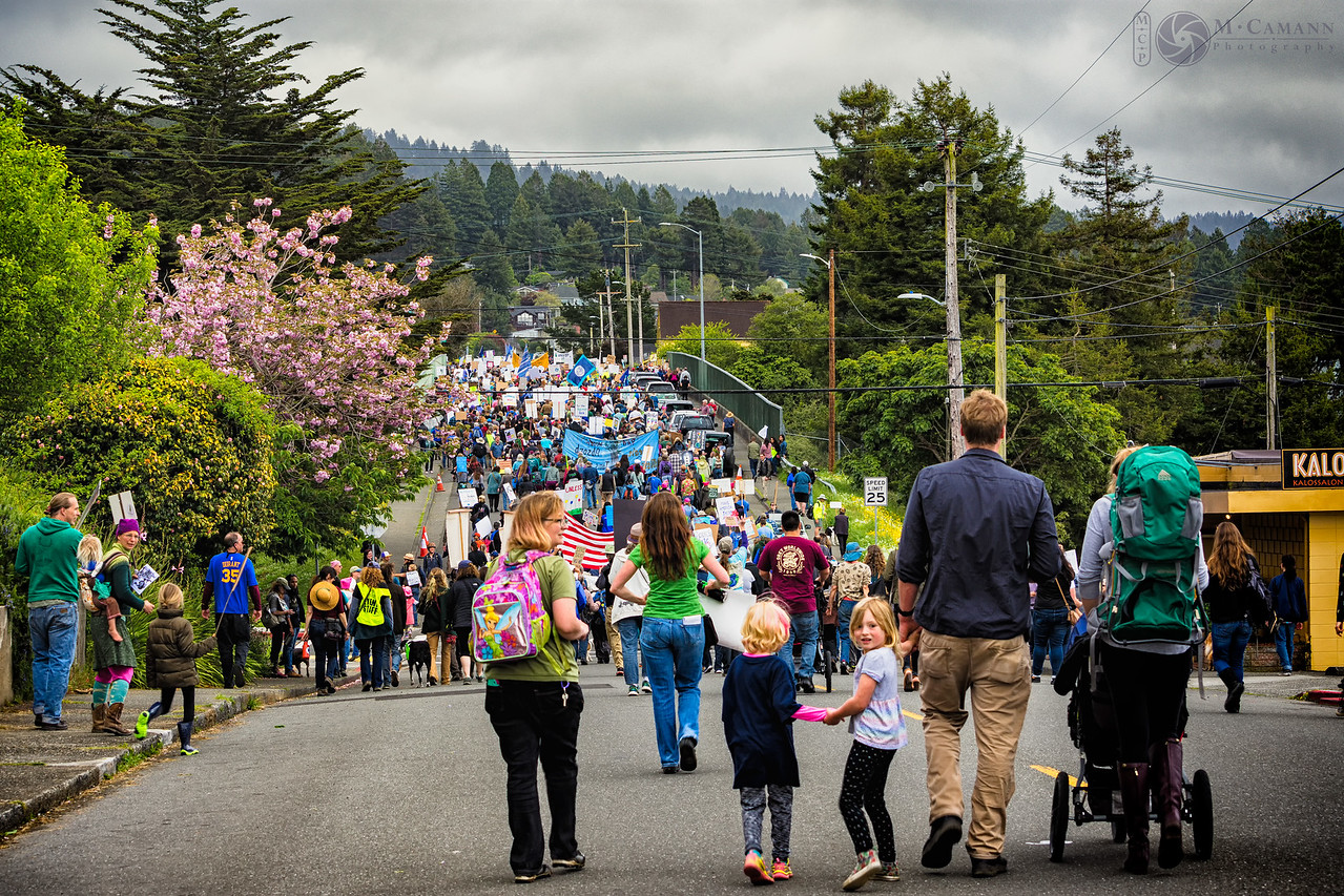 Humboldt March for Science, 22 April 2017, Arcata, California.