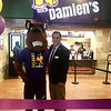 Damien the mascot at Damien's grand opening