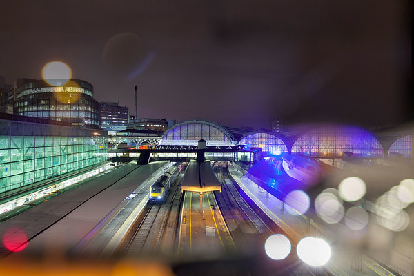 London Paddington through glass
