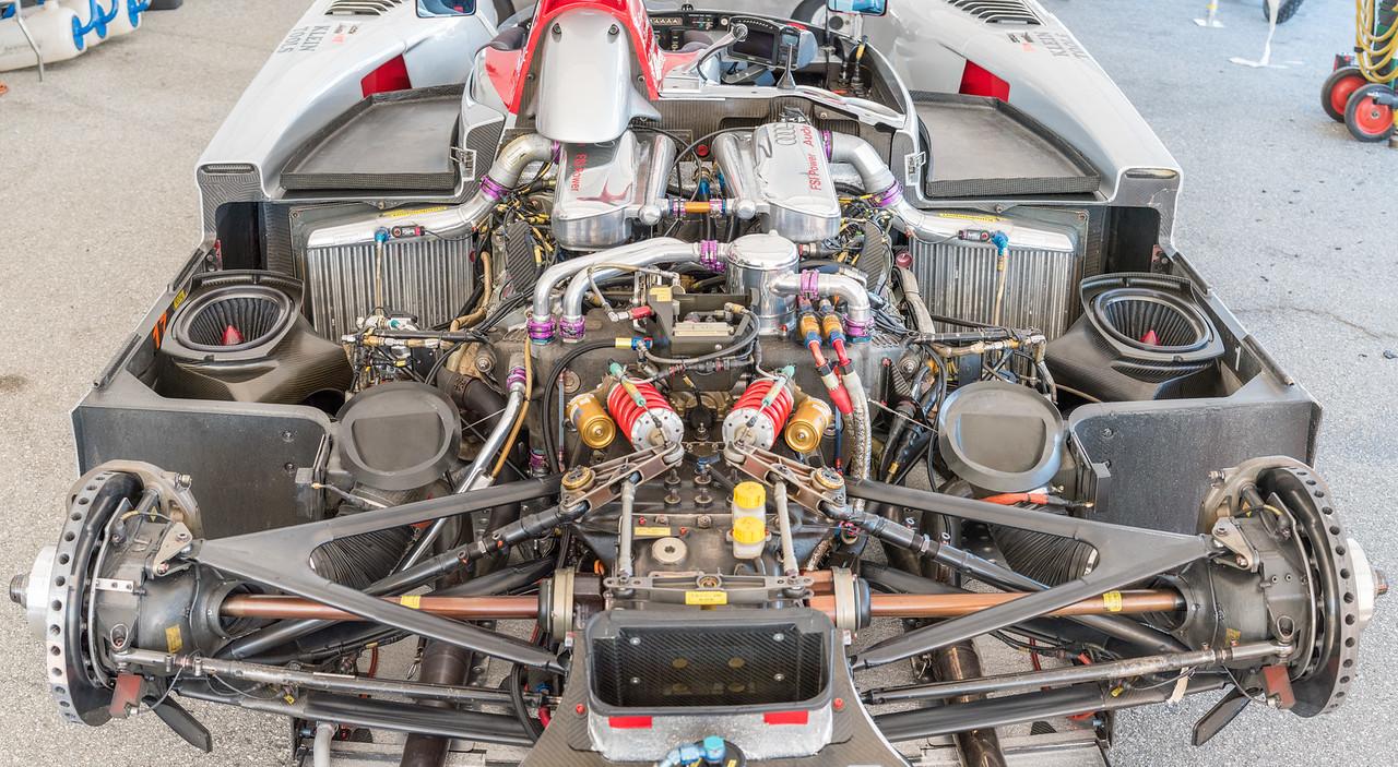 Audi R8 LMP drivetrain exposed