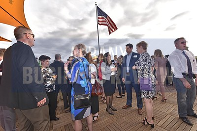 Spring Cocktails & Connections held at Franklin Plaza's rooftop terrace.