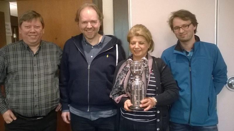 2017 Hamilton Cup winners - Robert Boeddekev, Paul Gruenke, Roland Rohowsky & Flora Zarkesch