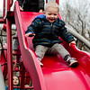 Wesley Moores, 2, enjoys the playground at Coolidge Park in Fitchburg during the spring-like weather on Tuesday, February 28, 2017. SENTINEL & ENTERPRISE / Ashley Green