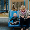 Wesley Moores, 2, and grandmother Donna Childs enjoy the playground at Coolidge Park in Fitchburg during the spring-like weather on Tuesday, February 28, 2017. SENTINEL & ENTERPRISE / Ashley Green
