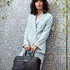 Mayfair; Luxe ; Audley;Leather Handbag;14'';120-101-BLK;Lifestyle