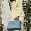 Mayfair; Luxe ; Audley; Leather Handbag; 14''; 120-101-STB; Lifestyle