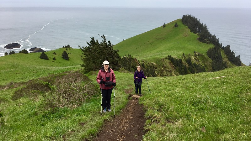 Eleanor and Margaret  on the trail.  Very steep hike to the top with a 1200 foot elevation gain.