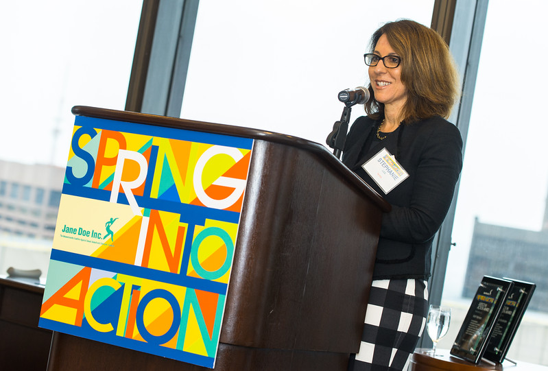 "Jane Doe breakfast ""Spring Into Action"" at the Boston College downtown club on Federal St. Boston MA May 25, 2017"