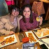 Enjoying a scrumptious brunch are Swati Dileep of Lowell and Neha Madhia of Nashua