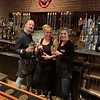 Warp and Weft mixologists, from left, Chris Pynn of Chelmsford, Ruby Govereau of Lexington and Christine Faulkner of Lowell