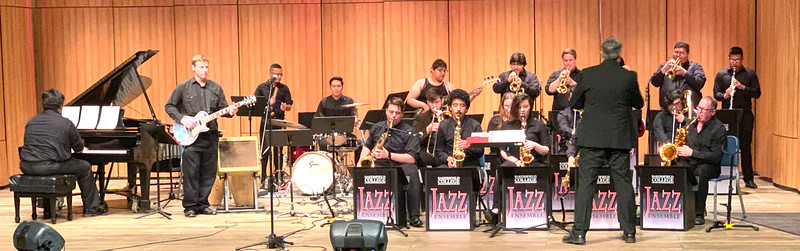 BC Jazz Studies perform in the indoor theater.