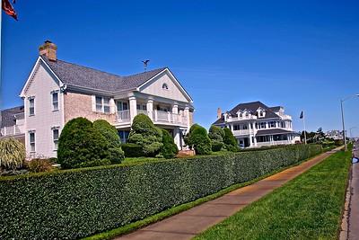 Homes along Ocean Avenue in Spring Lake