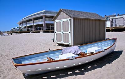 Boat on The Beach in Spring Lake, NJ