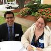 LAB treasurer Sal Kapadia of Andover and Sara Rushton of Lowell