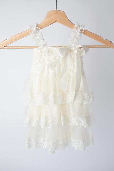 Warm White Boho Dress Size: Toddler (12-18 months) FRONT