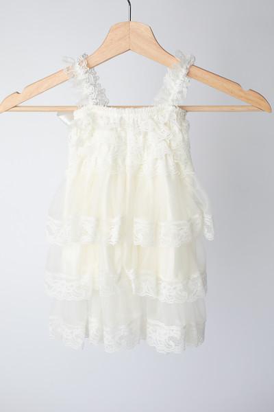 Warm White Boho Dress Size: Toddler (12-18 months) BACK