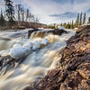 Free from winter ice just hours before this shot - Temperance River at Temperance River State Park in Minnesota on the North Shore of Lake Superior