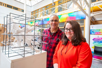 30/03/2019. FREE TO USE IMAGE. Thousands of CAO, part-time and postgraduate applicants visited WIT's Spring open events on Friday evening and Saturday morning. WIT is Ireland's top ranked institute of technology. Pictured are Paul Andrews and Caoimhe from Kilkenny city. Picture: Patrick Browne